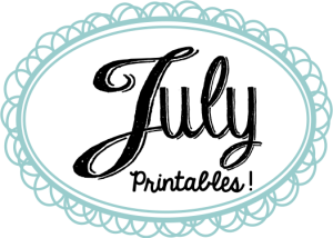 July Printables Slider