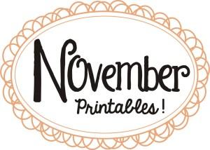 November Printables Slider