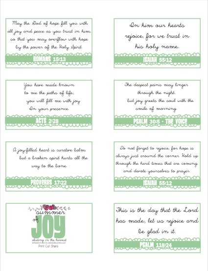 Summer of Joy Memory Verse