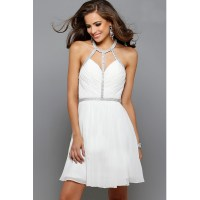 White Cocktail Dress  Leggings Or Nope?  careyfashion.com