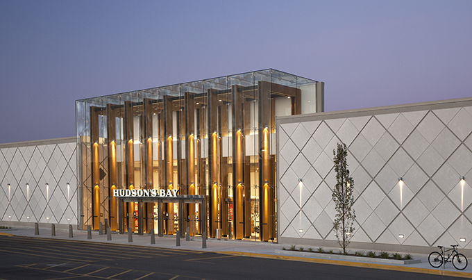 Hudson Bay Shop Front at Hillcrest Mall Ontario  Carey Glass