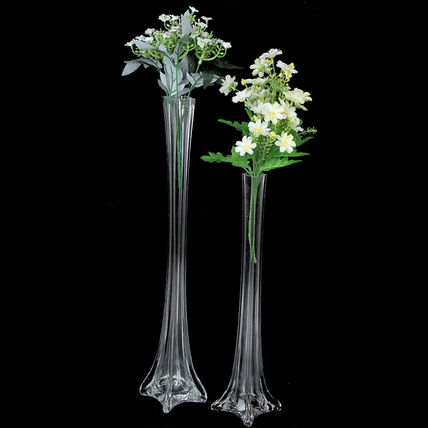 Bulk Lot 12 x Clear Glass Eiffel Tower Vases Wedding