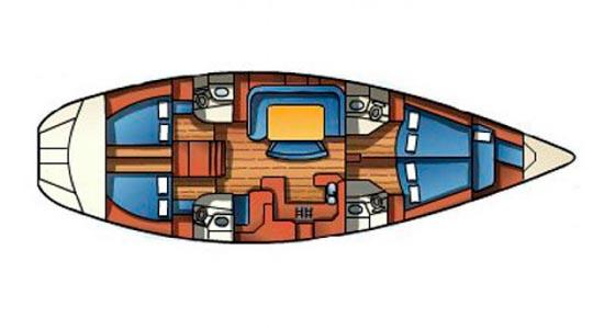 Sailboat Jeanneau52.2