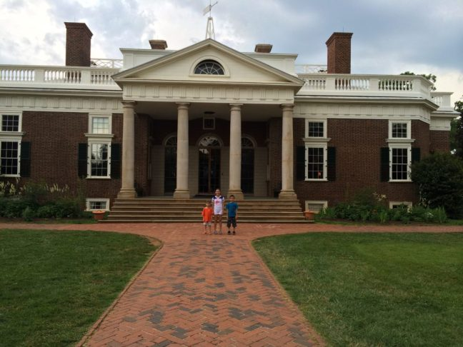 The front of Thomas Jefferson's home--Monticello