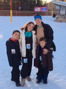 Take a moment to take a family picture at Ski Santa Fe.