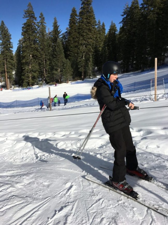 My 13-year-old has no problems getting up the rope tow. Granlibakken-Tahoe, Family Ski Destination, Lake Tahoe,