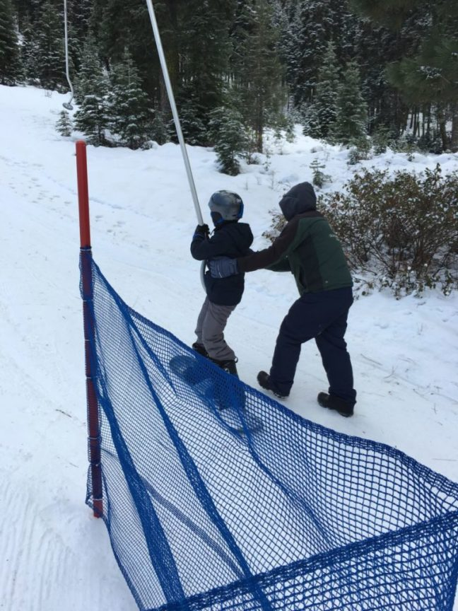 My 11-year-old son has no problem with the platter lift at Granlibakken. Lake Tahoe, Family Ski Destination,