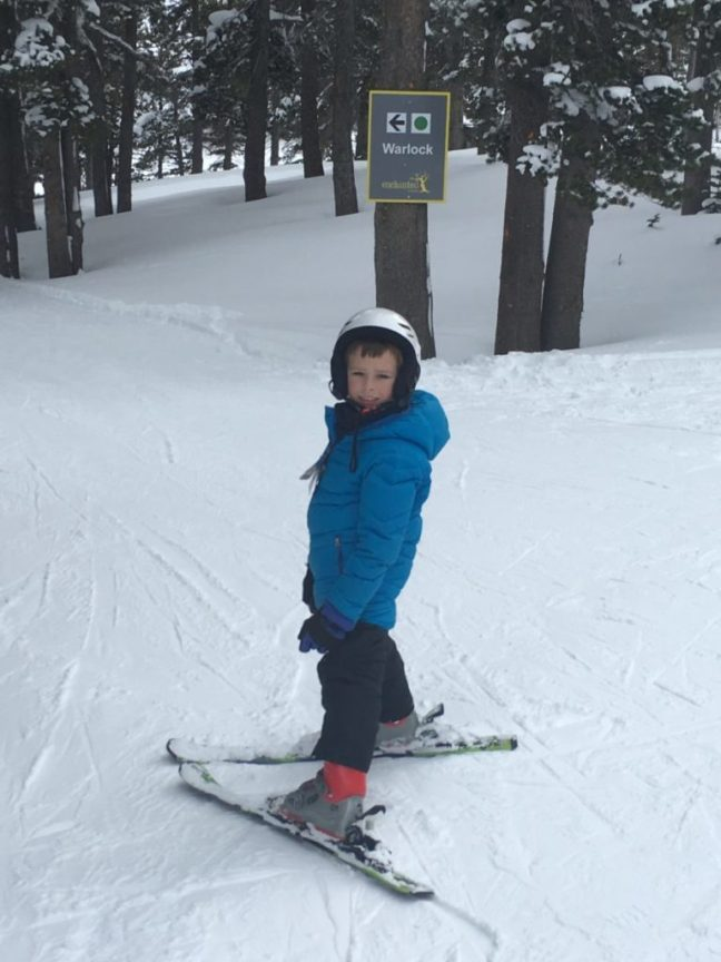 Skiing with an 8-year-old keeps this Mom on her toes. Carful of Kids, Mt Rose Ski Tahoe