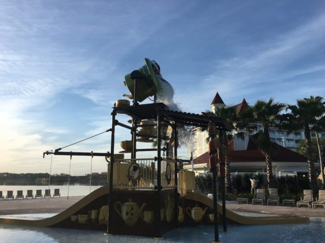 The Alice-in-Wonderland themed water play area for the littlest guests is a must-do. Walt Disney World, Review of the Grand Floridian Resort,