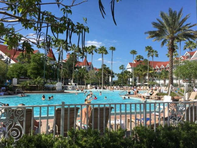The Courtyard Pool at the Disney World's Grand Floridan.