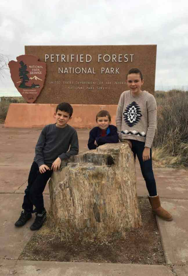An Arizona Road Trip destination at Petrified Forest National Park.