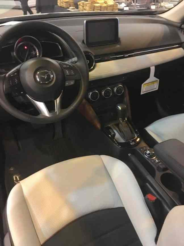The interior of the Mazda CX-3.