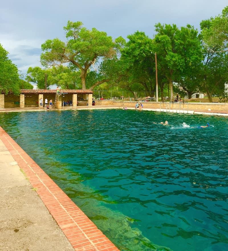 Balmorhea Pool With Kids Texas Natural Pools Carful Of Kids