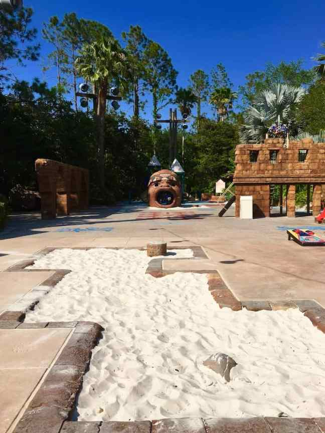 Play in the playground at the pool while staying at the Coronado Springs Resort.