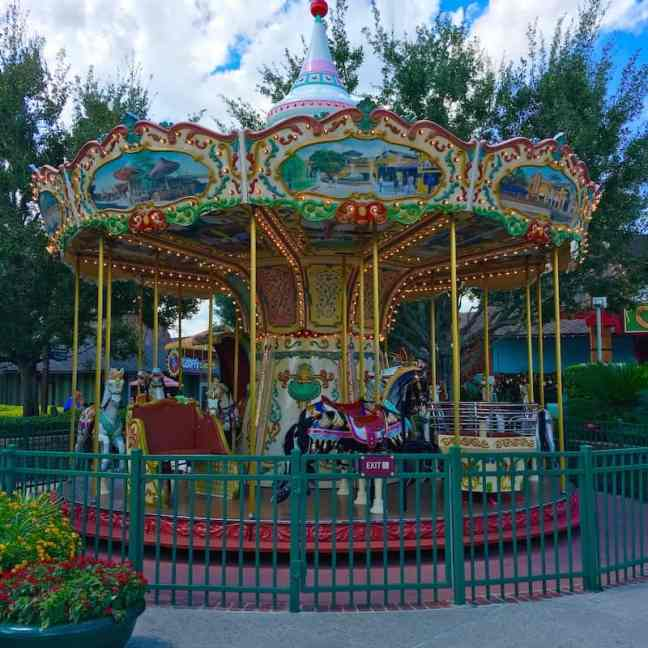 Enjoy the carousel in Disney Springs with kids.