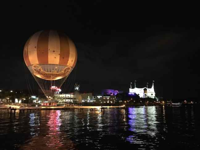 Enjoy Disney Springs after dark.