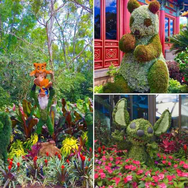 Enjoy the topiaries with kids at Epcot's Flower and Garden Festival.