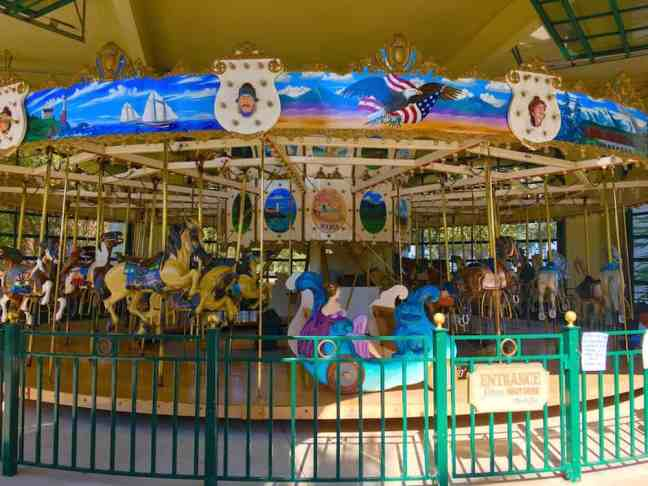 Chase Palm Carousel. Where to go with kids in Santa Barbara.