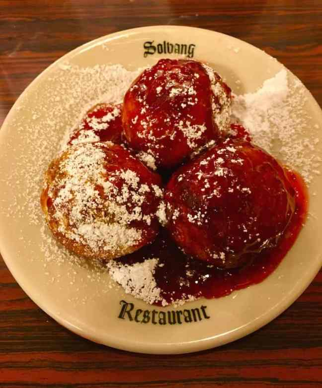 Try an aebleskiver. What to do in Solvang with kids.
