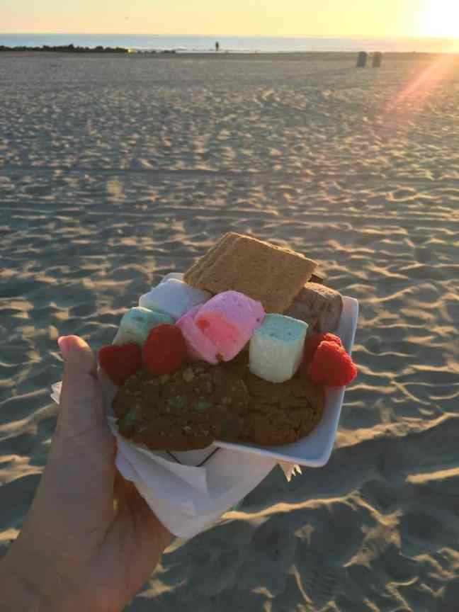 S'mores on the beach. Where to go in San Diego with kids.