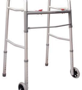 Andadera plegable de aluminio con ruedas
