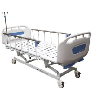Cama hospitalaria manual con tres manivelas