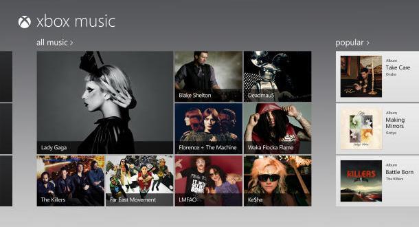 Microsoft lanzará Xbox Music en Windows 8