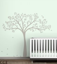 Monochromatic Fall Tree Wall Decal - Extended | Cargoh