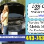 Mobile Mechanic Baltimore Auto Car Repair Coupons Discount Codes