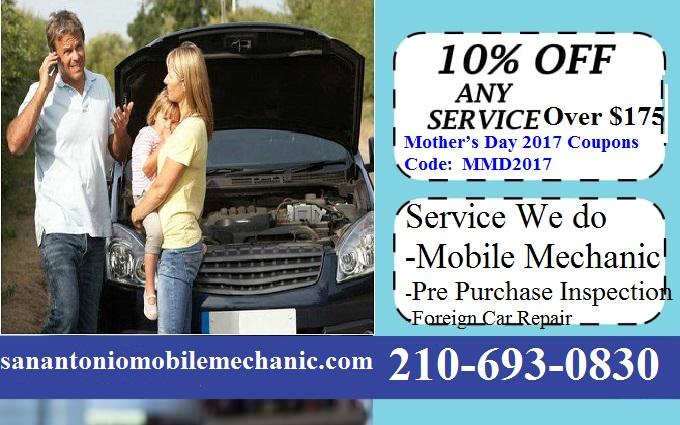 mobile auto mechanic san antonio car repair coupons discount codes. Black Bedroom Furniture Sets. Home Design Ideas