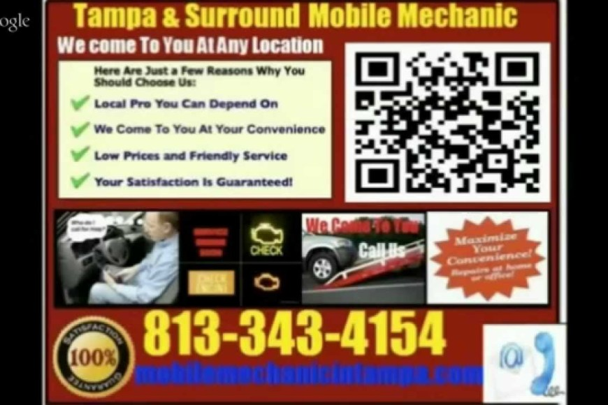 Mobile Mechanic In Clearwater Florida Auto Car Repair Service