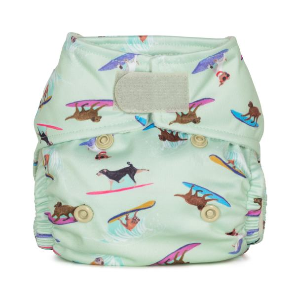 Baba+Boo Surfing Dogs Newborn Reusable Nappy
