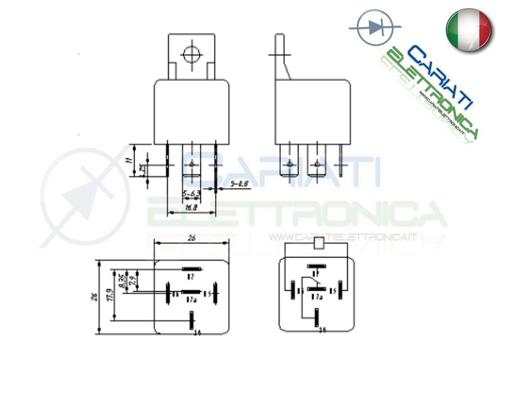 Relè Relay Auto Camper Universale 12v 30A 40A Songle SLD