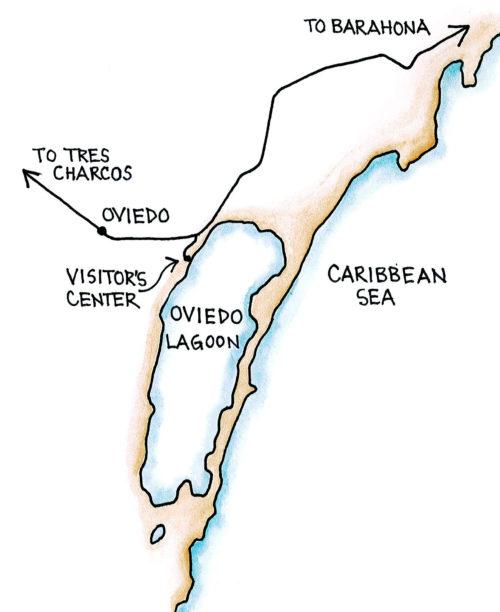 Oviedo Lagoon, Jaragua National Park (Map by Dana Gardner)