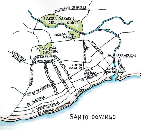 Santo Domingo (Map by Dana Gardner)