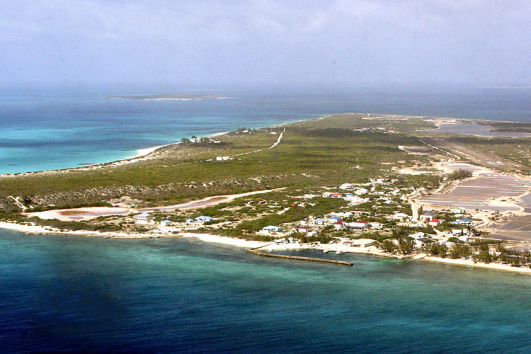 Aerial View of Northern Salt Cay (Photo by Dr. Mike Pienkowski)