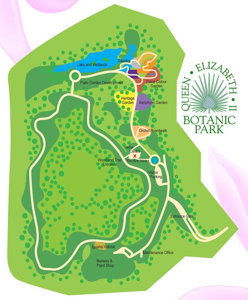 Queen Elizabeth II Botanic Park Map