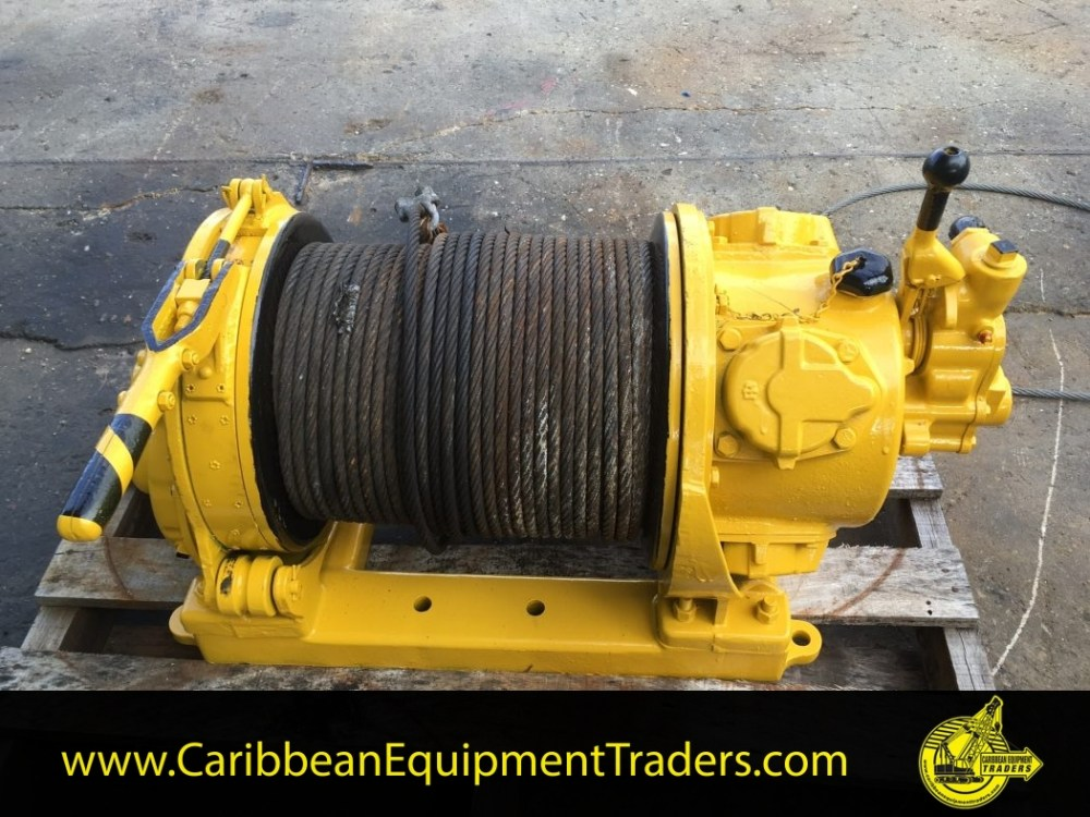 medium resolution of 4 000lbs capacity air winch mid drum hul40