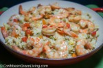 Vegetables Jasmine Rice with Sweet Peppers and Shrimp