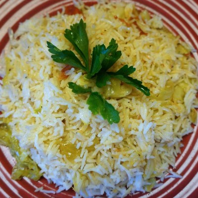 Rice with Dried Baby Shrimp, a Caribbean favorite