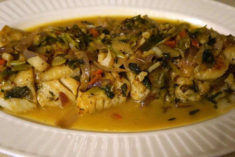 Spicy Cod Fish with White Wine