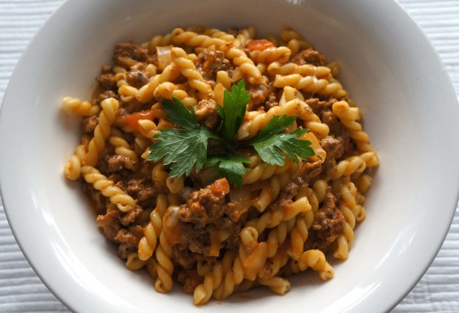 Stovetop Ground Turkey with Pasta