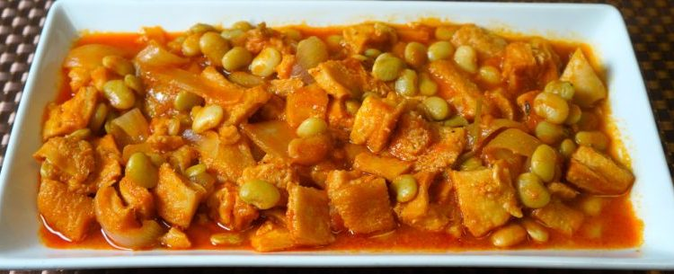 Beef Tripe with Lima Beans Stew