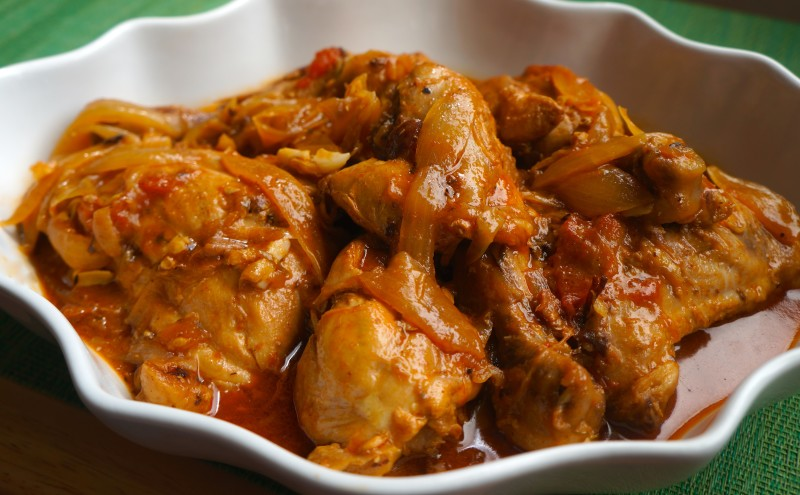 Chicken In Creole Sauce Poulet A Lhaitienne Caribbean Green Living