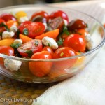 Tricolor Tomatoes and Feta Cheese Salad