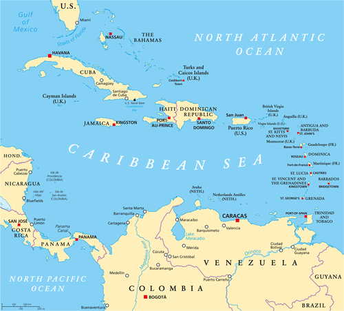 Discover The Caribbean Islands Caribbean Green Living - Cayman islands map caribbean