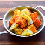 Roasted Sweet Potatoes and White Potatoes