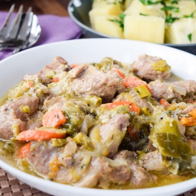 Tatouni, pork with leek and carrot