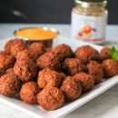Bulgur Wheat Ground Turkey Meatballs with Mango Sauce