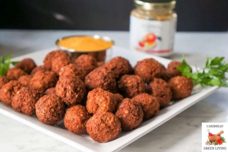 Easy Bulgur Wheat Ground Turkey Meatballs with Mango Sauce